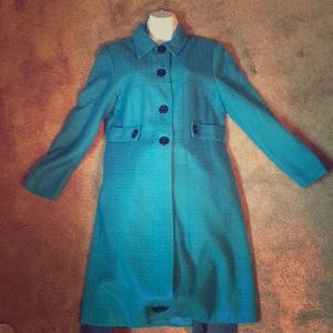 Sz 10 Jessica Howard long Blazer. Turquoise.